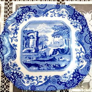 Spode Piatto Blue Italian