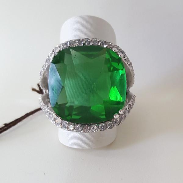 Anello quarzo verde