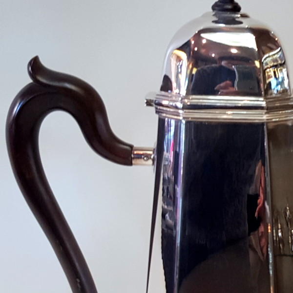 cioccolatiera manico ebano.argento 800