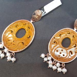 orecchini, laura bellini, in argento 925 e pietre semiprezione