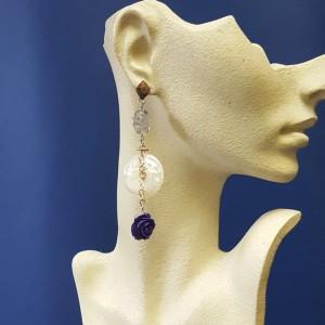 orecchini con madreperla
