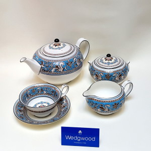 Servizio tea Florentine turquoise
