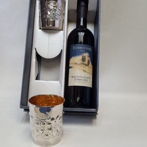 Set 2 Bicchieri vino Argento 800
