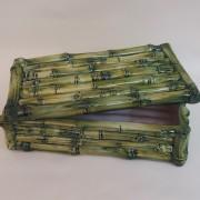 Scatola Bamboo verde rettangolare