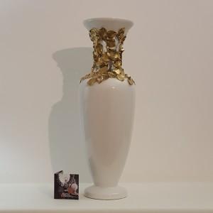 Vaso Petal Bianco e Oro