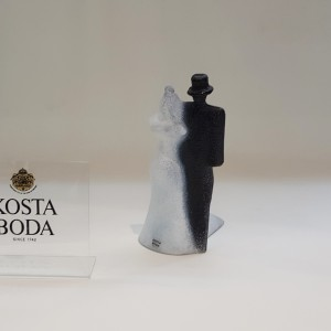 Kosta Boda Catwalk Bridal Couple