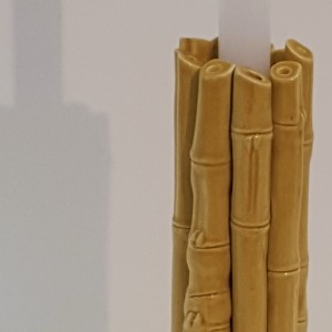 portacandele bamboo