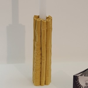 Portacandela Bamboo ambra