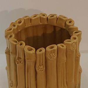 Vaso Bamboo ambra piccolo