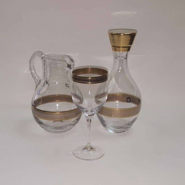 Bicchieri Vino fascia Oro e Platino