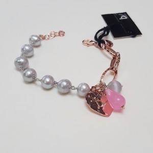 Bracciale Perle grigie e Agata