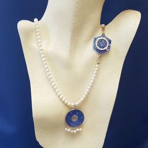 Collana di Perle e Sodalite