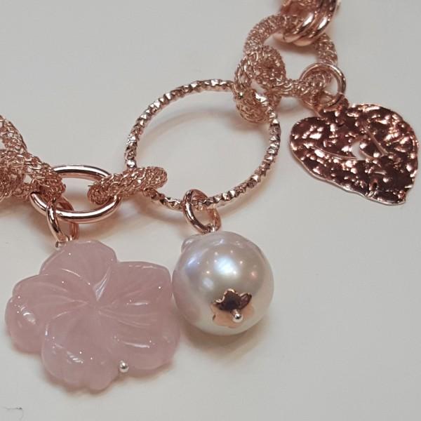 Bracciale Fiore Agata rosa