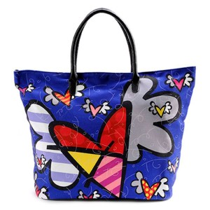 Borsa blu Flying Heart
