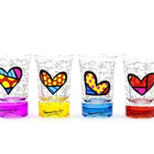 Set 4 Bicchieri bassi da liquore