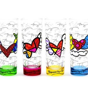 Set 4 Bicchieri alti da liquore