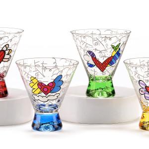Set 4 Bicchieri bassi Martini