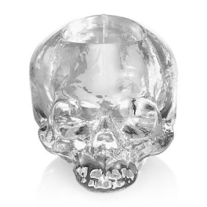 Skull votive Clear