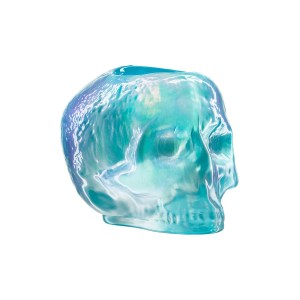 Skull votive Light Blue