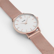Minuit Mesh Rose Gold White
