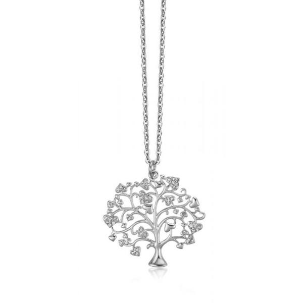 Collana Albero della Vita Cristalli Bianchi