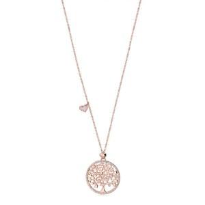 Collana Albero della Vita Rosè e Cuore charm