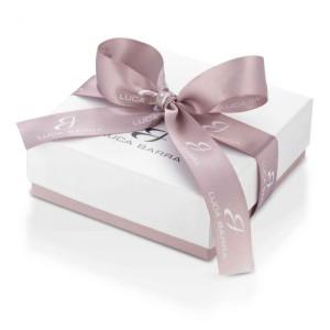 Collana di Perle rosa con cristalli bianchi