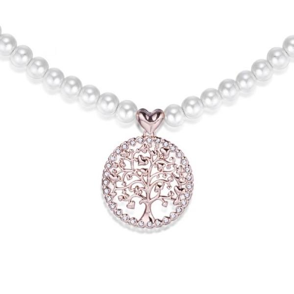Collana perle Albero della Vita rosé