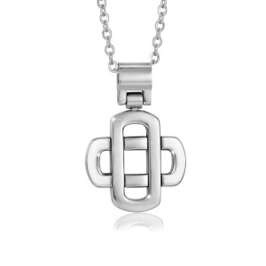 Collana acciaio con croce stilizzata