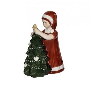 Elsa Vestito Rosso e Albero di Natale