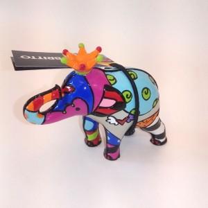 Figurina mini Elefante con Corona