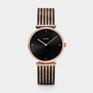 Triomphe Mesh Bicolour Rose Gold Black