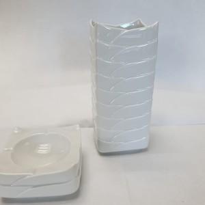 Vaso Petali bianco h 18 cm