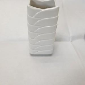 Vaso mini Petali bianco h 9 cm