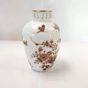 Vaso decoro Marrone e Oro Zecchino