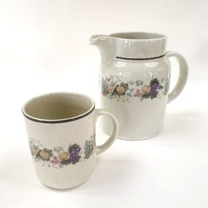 Brocca e 6 mug Harvest Garland