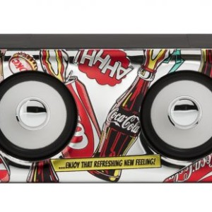 Amplificatore Maxi nero Pop Art Cartoon