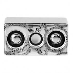 Amplificatore Mini bianco Note Musicali