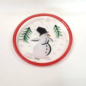 Piatto Pupazzo di Neve