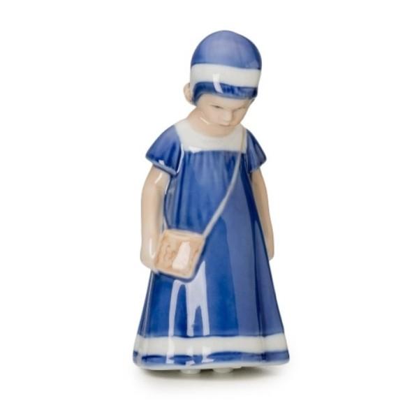 Mini Elsa con vestito blu