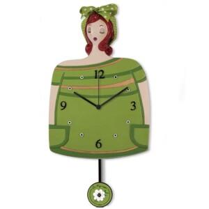 Orologio Pendolo Verde Le Pupazze