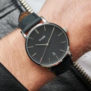 Aravis Leather Black, Silver Colour