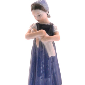 Mini Mary con vestito blu
