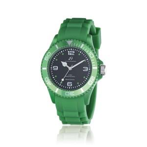 Orologio verde quadrante nero ghiera verde
